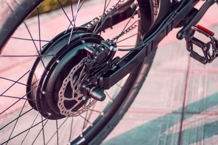motore posteriore bici